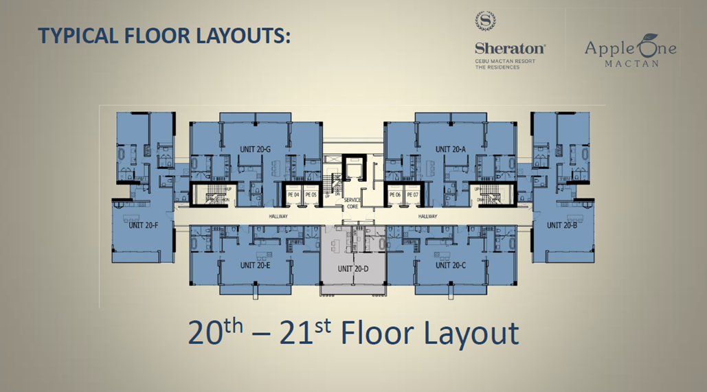 20th-21st Floor Layout