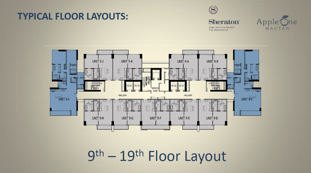 9th-19tht Floor Layout