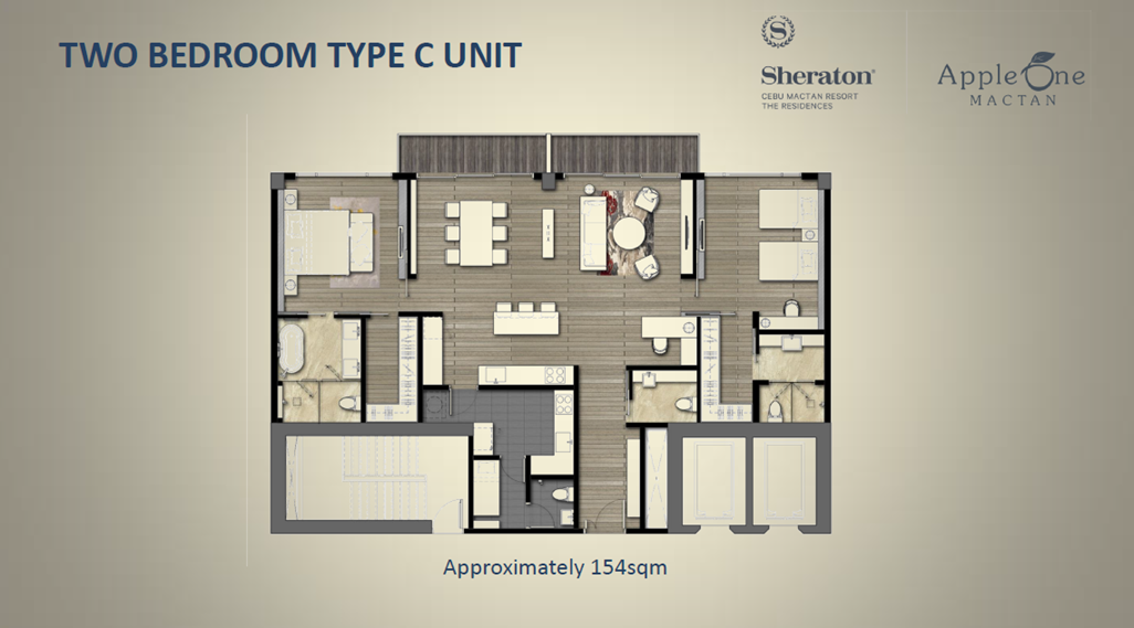 Two Bedroom Type C Unit